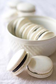Chocolate Coconut Macarons | siftandwhisk.com