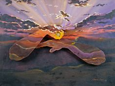 Gallery - ASL & Deaf Related - Chuck Baird Art: American Sign Language - Sunrise