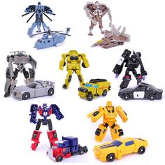 Model Building Model Accessories Dynamic Children Educational Learning Classic Egg Transformation Robot Cars Toys Action