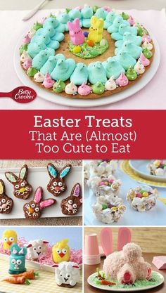 From bunny cakes to chick cookies, celebrate Easter with desserts that are as cute as they are delicious.