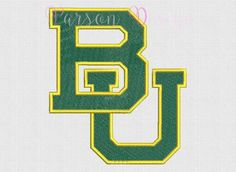 Baylor Bears - 9 Size Embroidery Designs College Football Logos ~ INSTANT DOWNLOAD ~ Machine Embroidery Pattern