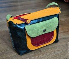 Универсальная Двусторонняя №2 - разноцветный,маленькая сумочка,авторская ручная работа