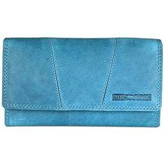 62a0192ba3ed9 Hill Burry Vintage Leder Damen Geldbörse Portemonnaie blau I braun I grau I  grün