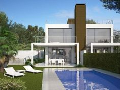 Montesinos Falcón sells a luxury new build development in the area of Benimeit, Moraira. Set in a secluded area with beautiful open views of Moraira. This small urbanisation with 2 semi detached villas with individual pools are built to the highest standard. The villas consist of three bedrooms, two bathrooms and a cloakroom. Set on three levels.The villa will come finished with garden and private 8 x 4 pool.