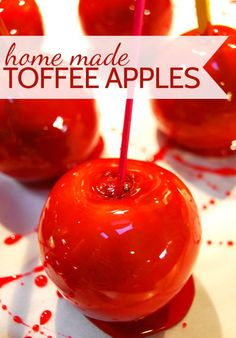 Making home made toffee apples - thanks to @Ali Wright for sharing this fabulous recipe on my blog today