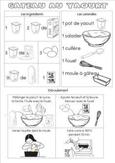 Fiche recette du gâteau au yaourt (maternelle) - Dans ma petite roulotte...