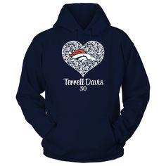 Denver Broncos - Lace Heart - Terrell Davis
