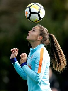 ZEIST, NETHERLANDS - APRIL 2: Lieke Martens of Holland Women during the Training Holland Women at the KNVB Campus on April 2, 2018 in Zeist Netherlands (Photo by Eric Verhoeven/Soccrates/Getty Images)