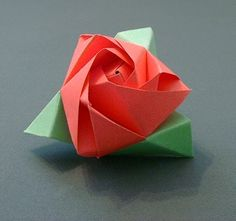 Origami Rose/Cube, actually pretty simple to make.