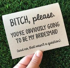 Funny Bridesmaid Proposal Card for Maid of Honor / Be my bridesmaid proposal Car. Wedding , Funny Bridesmaid Proposal Card for Maid of Honor / Be my bridesmaid proposal Car. Funny Bridesmaid Proposal Card for Maid of Honor / Be my bridesmai. Bridesmaid Proposal Cards, Wedding Proposals, Brides Maid Proposal, Wedding Venues, Bridesmaid Ideas, Marriage Proposals, Wedding Poses, Wedding Reception, Wedding Destinations