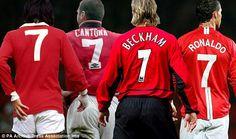 Iconic No 7 : George Best, Eric Cantona, David Beckham and Cristiano Ronaldo  Just hate Kapernick