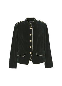 Christmas 2016/ 2017 Trends: black velvet army style jacket