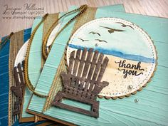 Stampin' Up! High Tide, Colorful Seasons chair, words from Eastern palace suite