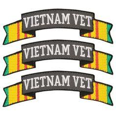 Vietnam Vet Tab Patches Hook & Loop | Medals of America