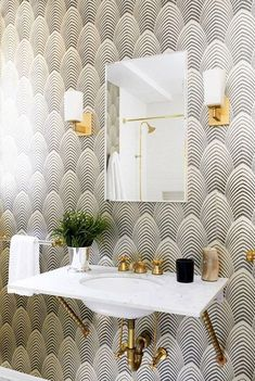 Use wallpaper for a splash of unexpected style in overlooked places.