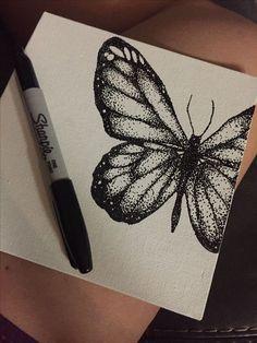 Ink dibujos & tinte dibujos & dibujos à l'encre & dibujos de tinta & i. - Ink dibujos & tinte dibujos & dibujos à l'encre & dibujos de tinta & ink drawing, ink t - Dotted Drawings, Pencil Art Drawings, Cool Art Drawings, Art Drawings Sketches, Black Pen Sketches, Black Pen Drawing, Butterfly Drawing, Butterfly Watercolor, Tattoo Watercolor