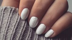 Get in on the latest manicure trend: cable knit nail art!