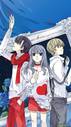 The ladies of Angel Beats, nerdy style Angel Beats, Hinata, Lan Chi, Blue Wings, Anime Angel, I Love Girls, Kawaii Cute, Anime Love, Awesome Anime