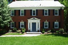 door colors for red brick colonial | ... all brick center hall colonial - Front door colors for brick homes