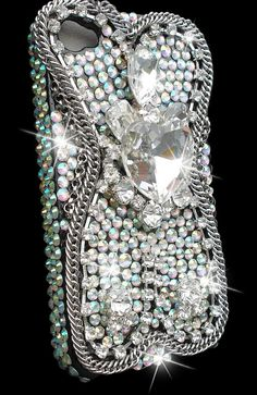 RockStar Silver Czech crystals Bling Case by JaggedGlamourCases, $49.95
