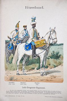 Russland 1756/1762 - Uniformenkunde - Richard Knötel - IX - Planche 23