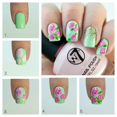 16 Lovely Step By Step Floral Nail Tutorials