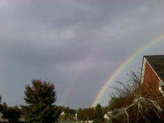Double Rainbow after a rain shower!!