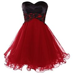 Ababalaya Short Prom Tulle Dresses Tutu Homecoming Dress for Women ($39) ❤ liked on Polyvore
