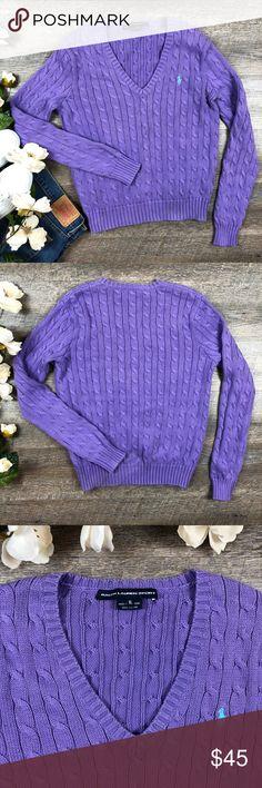 Ralph Lauren Sport Sweater Cute lavender Ralph Lauren Sport Sweater! In great condition. 100% cotton. Size XL. (F-21. B) Ralph Lauren Blue Label Sweaters