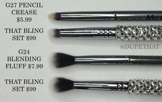 Here are a few more similar options from @morphebrushes that are comparable to brushes in the That Bling Set (sold out but will be returning)! As mentioned before I have heard that these brushes are elite brushes but I personally don't have any brushes from the elite line to compare these to. I'm just sharing similar alternatives within my own collection! Looking at the website the E17 E18 & E27 may also be close matches! Use the code DUPETHAT for 10% off online and in store.  by dupethat