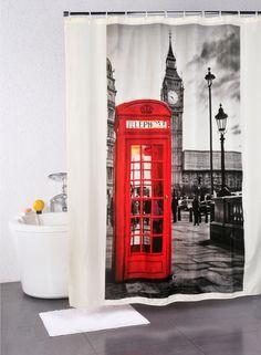 A Loja do Gato Preto | Cortina de Banho London #alojadogatopreto