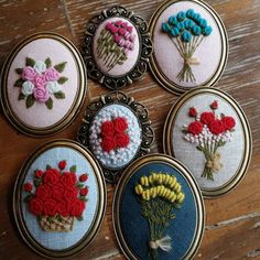 """45 Likes, 3 Comments - @jidong_yoon on Instagram: """"#rose hand embroidery brooch #장미자수브로치 #모사브로치"""""""
