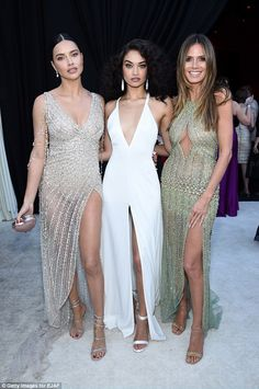 Stellar line-up: The Aussie model was photographed alongside Victoria's Secret alumni, Adr...