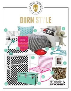 It's back to school time and I have teamed up with Bed, Bath & Beyond to give you some inspiration for decorating a stylish dorm space, look at these awesome decor pieces, they are back to school cool! Love the look as much as I do? Here is a shopping list to easily pick up …