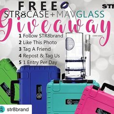 #Repost @str8brand with @repostapp ・・・ We are doing a FREE MAV #pipe and STR8 #case giveaway raffle once we meet our 9K followers on instagram! Giveaway Contest Rules @mavglass … 1) Follow @STR8brand, 2) Like this post, 3) Tag a friend, 4) Repost & MUST tag us to count, 5) One Entry per day. #str8brand #rollanywhere #mavglass #Free #giveaway #win #tag #smokesupply #glasspipes #rolledcones #smellproof #glassofig #glassporn bestofglass #headyglass #smoke #smokesesh #rollup #rasta #fbf #Friday…