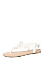 Womens White 'Floss' Lace Effect Sandals- White