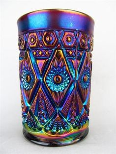 Diamond Lace by Imperial Electric Purple Carnival Glass Tumbler   eBay
