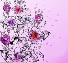 Цветочные рисунки для росписи