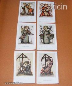 Berta Hummel szentképek a 30-s évekből! Original Rare Print! Fleißbildchen. Ars sacra Nr. 3700-3705