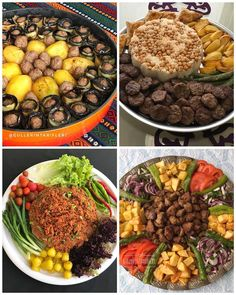 Image may contain: food Iftar, Food Design, Vegetarian Recipes, Cooking Recipes, Ramadan Recipes, Food Decoration, Table Decorations, Time To Eat, Arabic Food