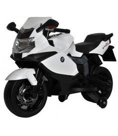 MOTO ELÉCTRICA PARA NIÑOS - MOTO 12V BMW K1300S BLANCA. SCHIANO SCH941