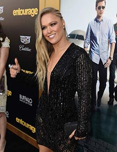 Ronda Rousey at an event for Entourage (2015)