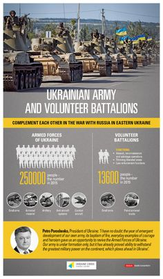 Ukrainian Army and Volunteer Battalions
