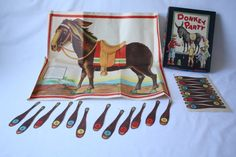 1950s Donkey Party Game  Pin the Tail on the Donkey by onecozynest, $14.99