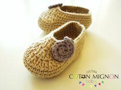 Zapatitos ganchillo bebe cultura coton mignon