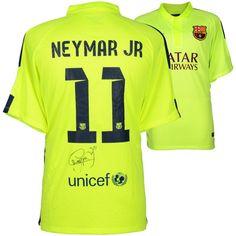 85103eccd Neymar Santos Barcelona Fanatics Authentic Autographed Alternate Green  Jersey