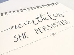 Nevertheless She Persisted: Elizabeth Warren - Digital Download Art Typography Print by theartsybirder on Etsy