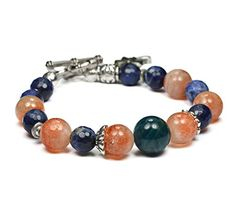 WEIGHT LOSS Bracelet. A Powerful Combo: Apatite, Sunstone and Sodalite. Genuine Gemstone jewelry handmade by Mirilya. Charm bracelet. Natural gemstone healing jewelry. * Check out this great product.
