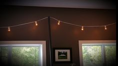 Strand of Edison Lights and Stands Edison Lighting, Tents, Cottage, Windows, Lights, Teepees, Tent, Cabin, Lighting