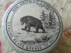 Antique bear pot lid
